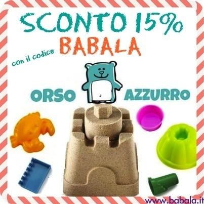 codice sconto orso azzurro su babala.it